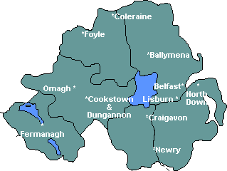 Northern Ireland Map of Local Groups.  May takes a few minutes to download